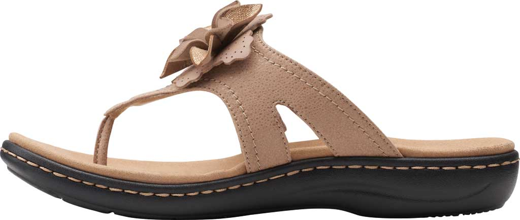 Women's Clarks Laurieann Gema Thong Sandal, Sand Leather/Synthetic Combination, large, image 3