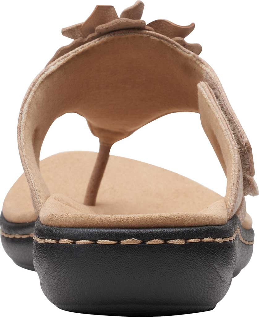 Women's Clarks Laurieann Gema Thong Sandal, Sand Leather/Synthetic Combination, large, image 4