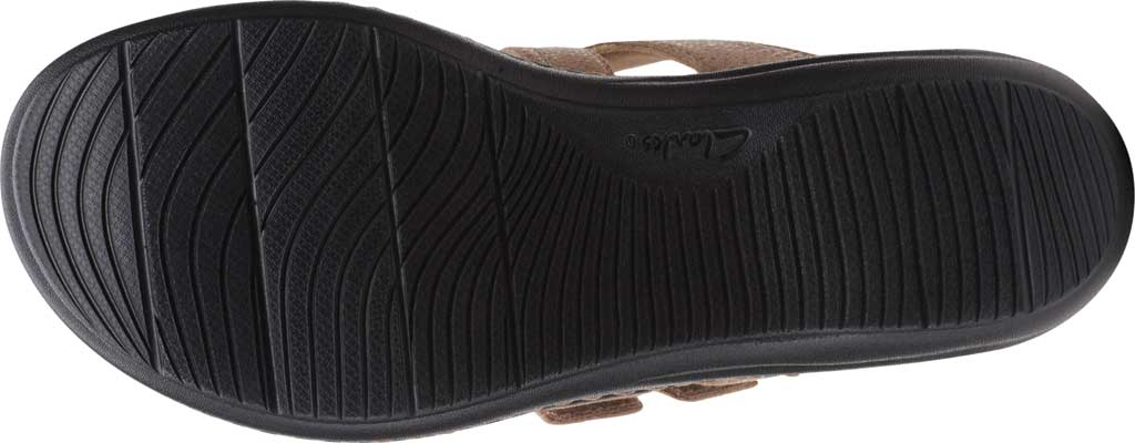 Women's Clarks Laurieann Gema Thong Sandal, Sand Leather/Synthetic Combination, large, image 6