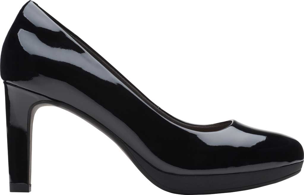 Women's Clarks Ambyr Joy High Heel Pump, Black Patent Synthetic, large, image 2