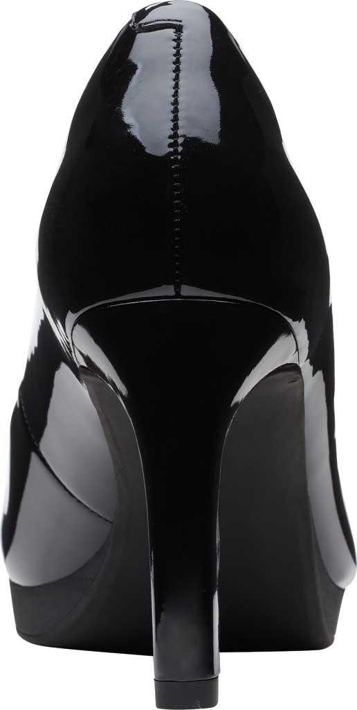 Women's Clarks Ambyr Joy High Heel Pump, Black Patent Synthetic, large, image 4