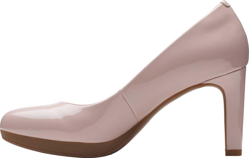 Women's Clarks Ambyr Joy High Heel Pump, Dusty Rose Patent Synthetic, large, image 3