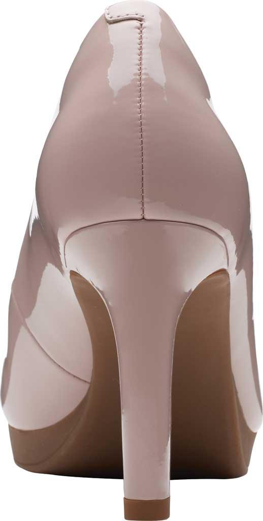 Women's Clarks Ambyr Joy High Heel Pump, Dusty Rose Patent Synthetic, large, image 4