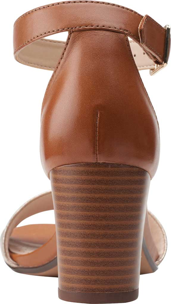 Women's Clarks Jocelynne Cam Ankle Strap Heeled Sandal, Metallic/Tan Leather Combination, large, image 4