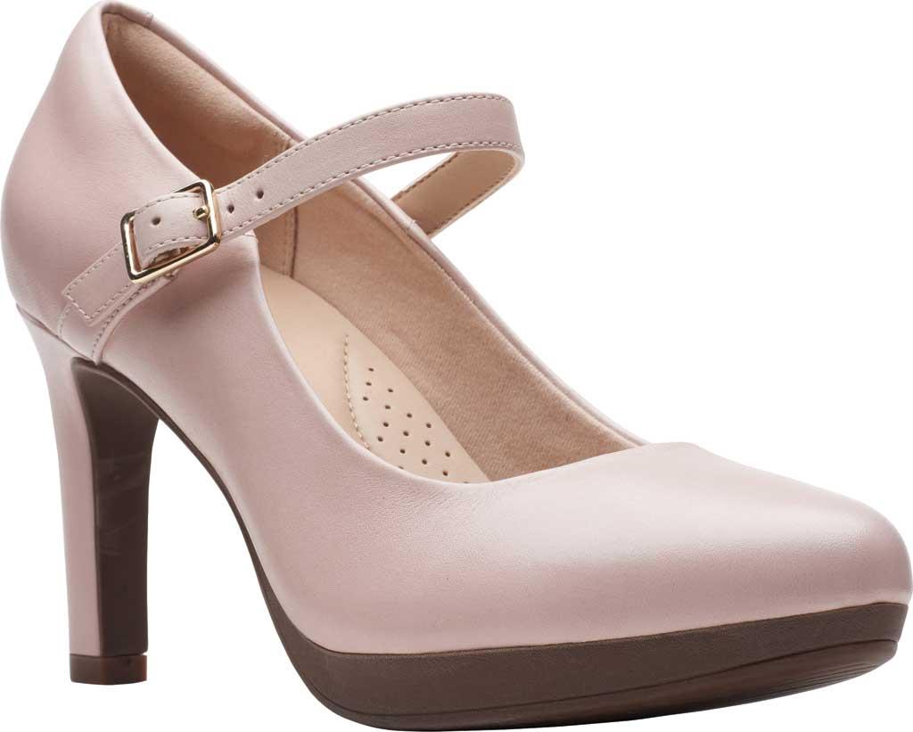 Women's Clarks Ambyr Shine High Heel Mary Jane, Dusty Rose Leather, large, image 1