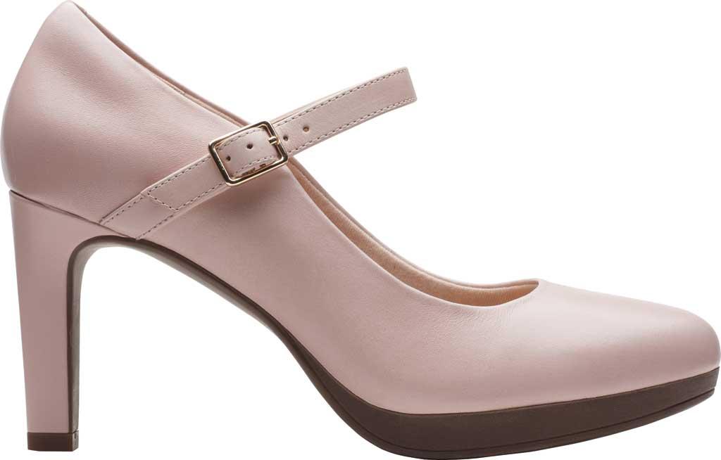 Women's Clarks Ambyr Shine High Heel Mary Jane, Dusty Rose Leather, large, image 2