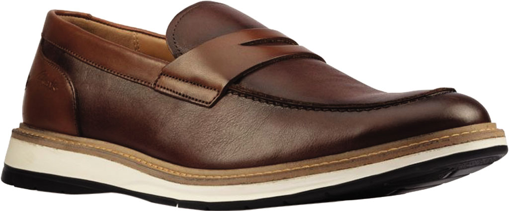 Men's Clarks Chantry Penny Loafer, Tan Leather, large, image 1