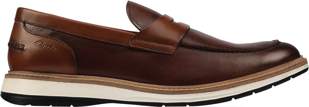 Men's Clarks Chantry Penny Loafer, Tan Leather, large, image 2