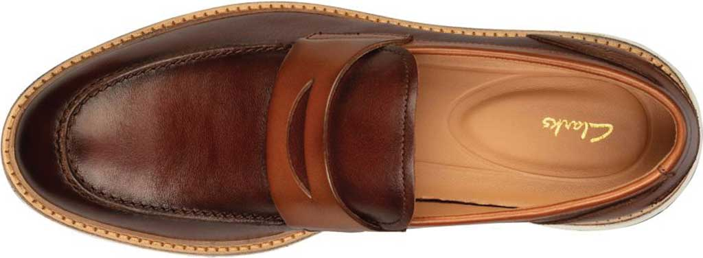 Men's Clarks Chantry Penny Loafer, Tan Leather, large, image 5