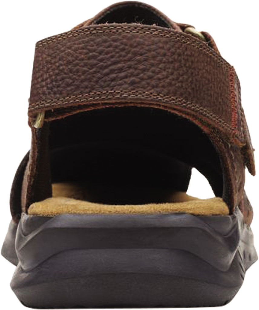Men's Clarks Hapsford Cove Fisherman Sandal, Brown Tumbled Leather, large, image 4