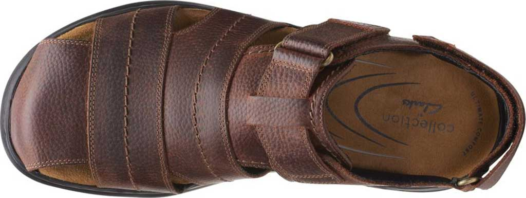 Men's Clarks Hapsford Cove Fisherman Sandal, Brown Tumbled Leather, large, image 5