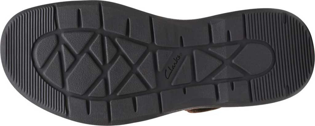 Men's Clarks Hapsford Cove Fisherman Sandal, Brown Tumbled Leather, large, image 6