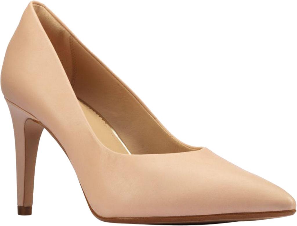Women's Clarks Genoa85 Court High Heel Pump, Light Pink Leather, large, image 1