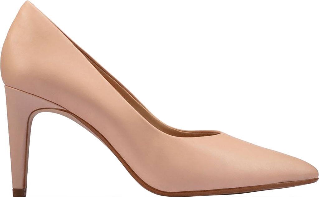 Women's Clarks Genoa85 Court High Heel Pump, Light Pink Leather, large, image 2