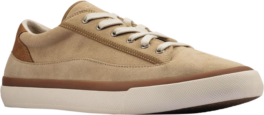 Men's Clarks Aceley Lace Sneaker, Taupe Suede, large, image 1