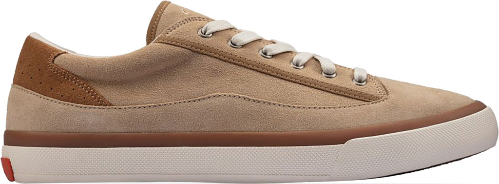 Men's Clarks Aceley Lace Sneaker, Taupe Suede, large, image 2