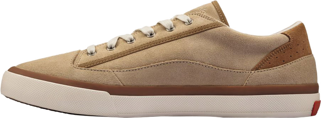 Men's Clarks Aceley Lace Sneaker, Taupe Suede, large, image 3