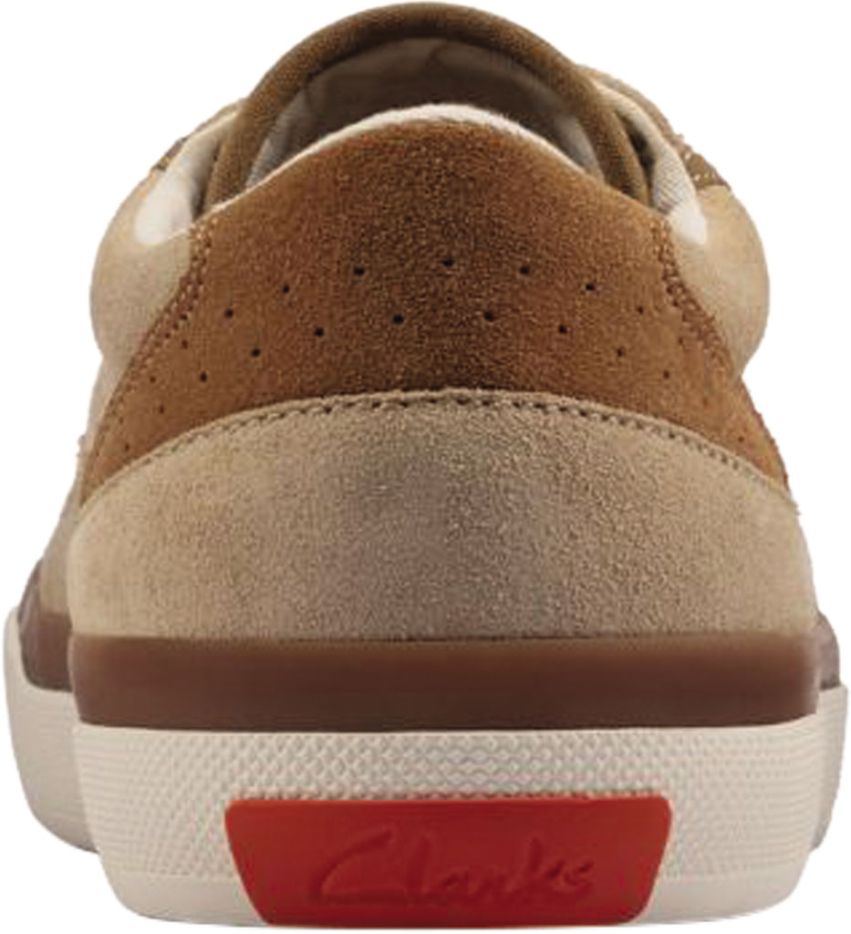 Men's Clarks Aceley Lace Sneaker, Taupe Suede, large, image 4