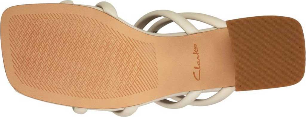 Women's Clarks Sheer65 Heeled Slide, White Leather, large, image 6