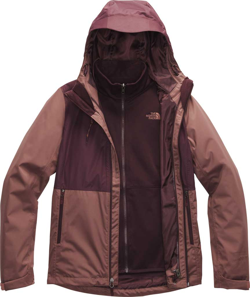 Women's The North Face Arrowood Triclimate Jacket, Marron Purple/Root Brown, large, image 1