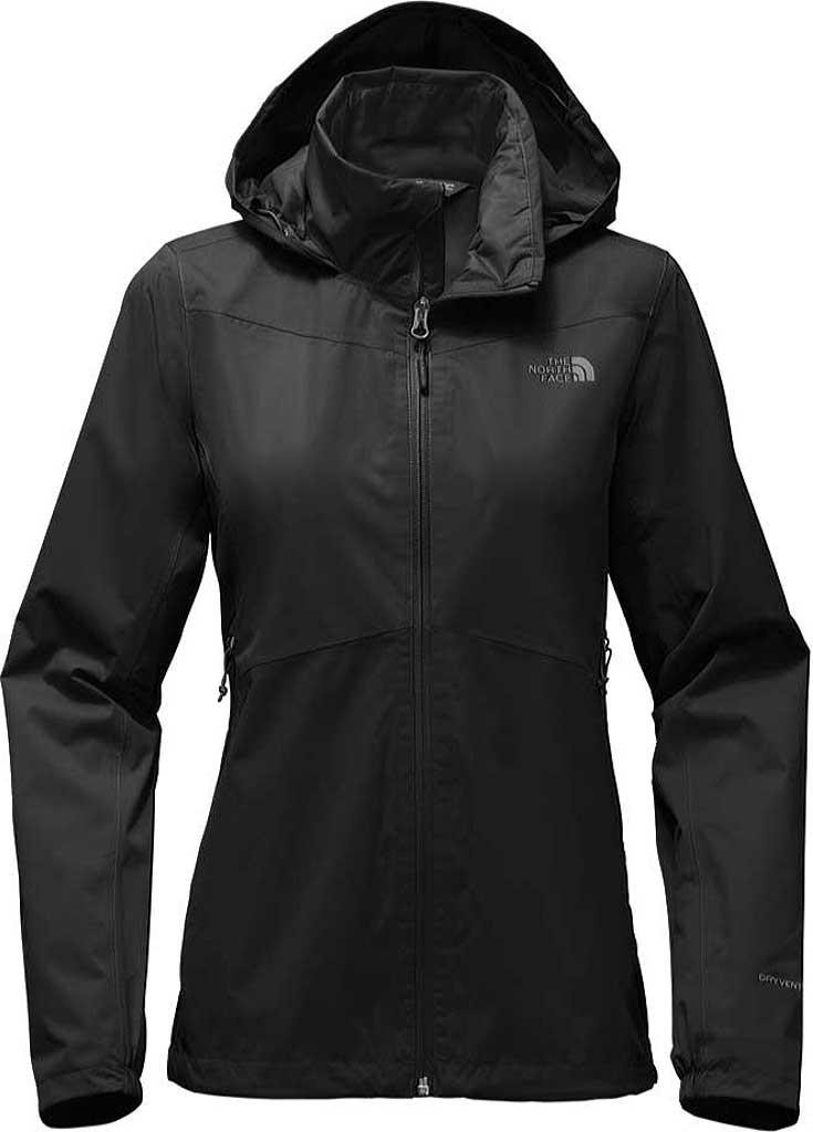 Women's The North Face Resolve Plus Jacket, TNF Black/TNF Black, large, image 1