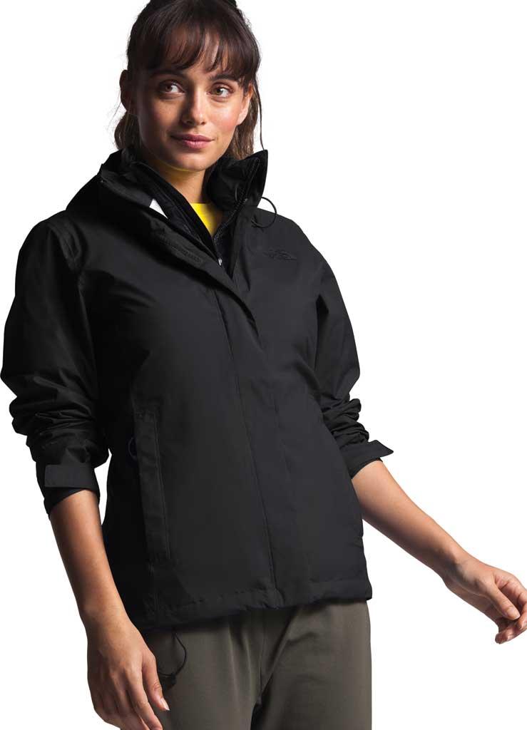 Women's The North Face Venture 2 Jacket, TNF Black/TNF Black, large, image 1