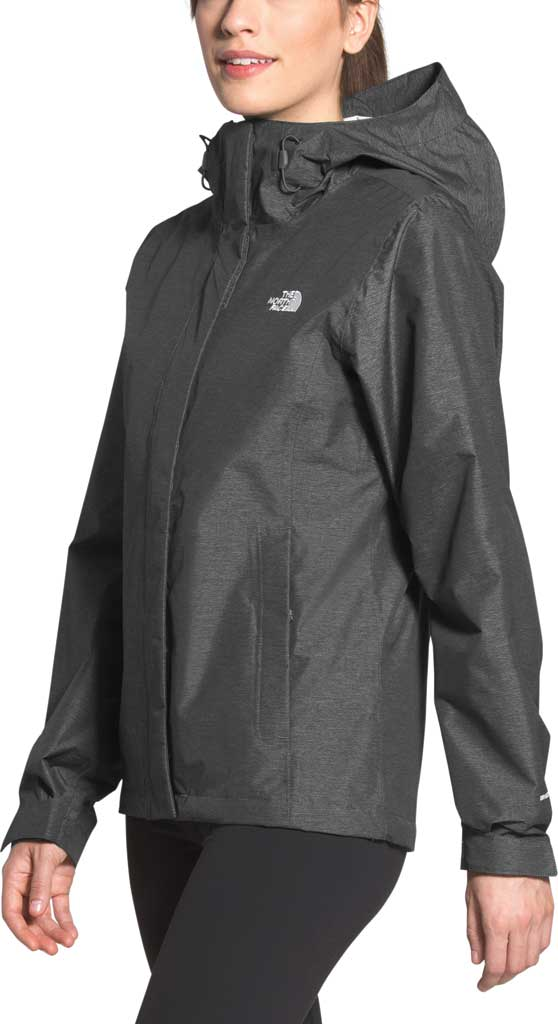 Women's The North Face Venture 2 Jacket, TNF Dark Grey Heather/TNF Dark Grey Heather, large, image 3