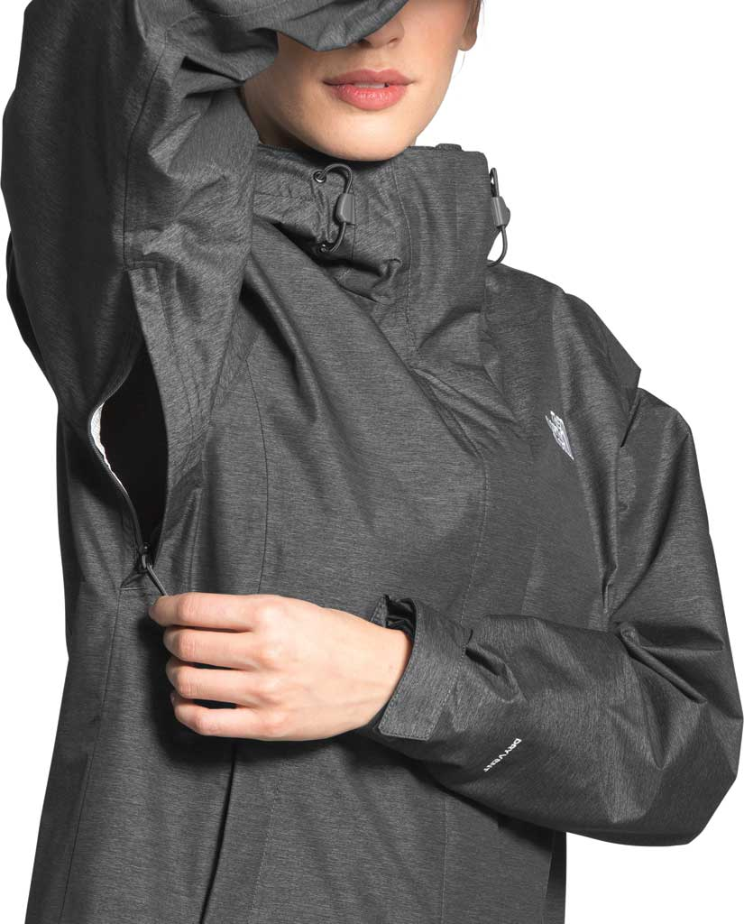 Women's The North Face Venture 2 Jacket, TNF Dark Grey Heather/TNF Dark Grey Heather, large, image 4