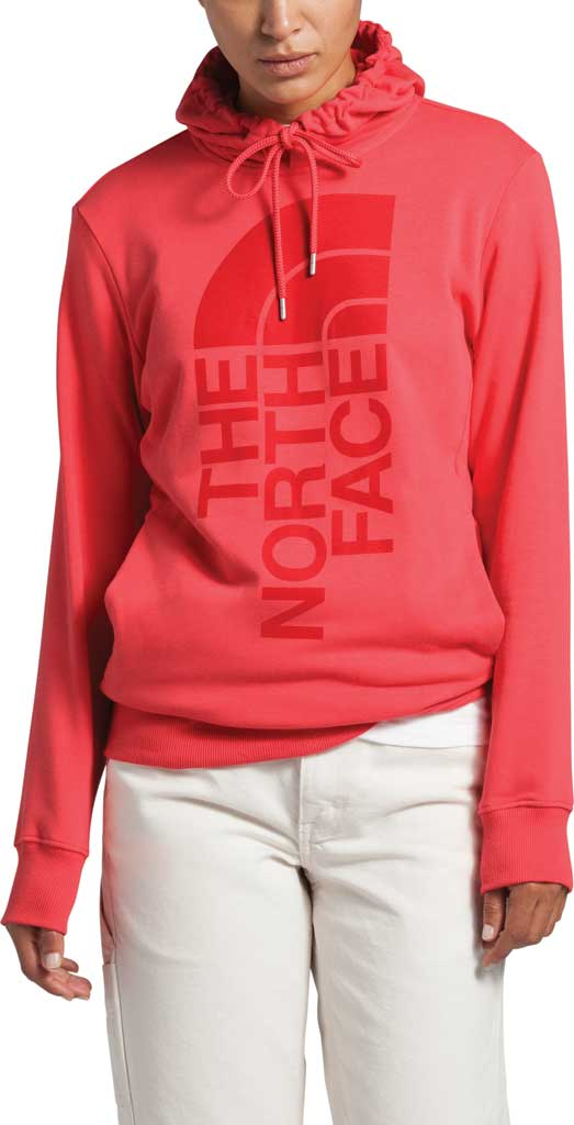 Women's The North Face Trivert Pullover Hoodie, Cayenne Red, large, image 1
