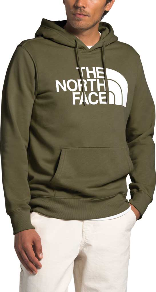 Men's The North Face Half Dome Hooded Pullover, Burnt Olive Green, large, image 1