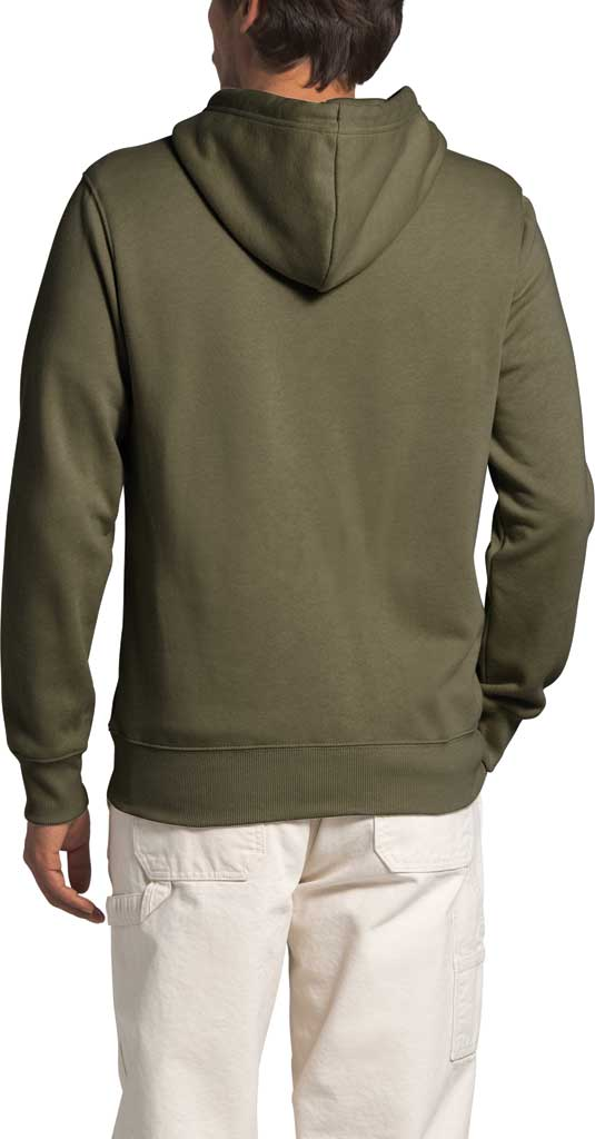 Men's The North Face Half Dome Hooded Pullover, Burnt Olive Green, large, image 2