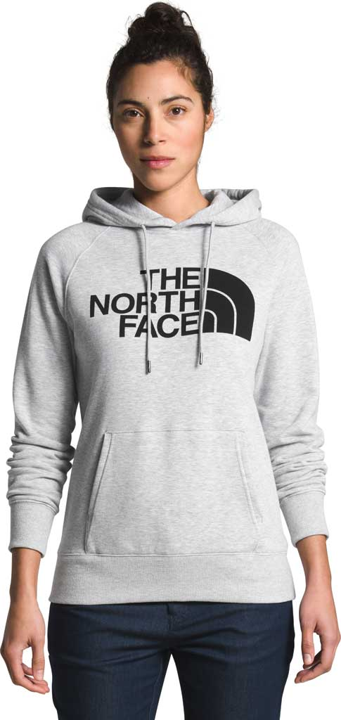 Women's The North Face Half Dome Hooded Pullover, TNF Light Grey Heather/TNF Black, large, image 1