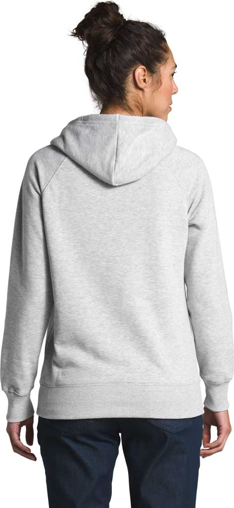 Women's The North Face Half Dome Hooded Pullover, TNF Light Grey Heather/TNF Black, large, image 2