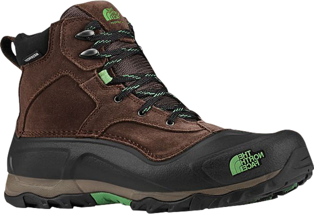 Men's The North Face Snowfuse Waterproof Boot, Ganache Brown/Sullivan Green, large, image 1
