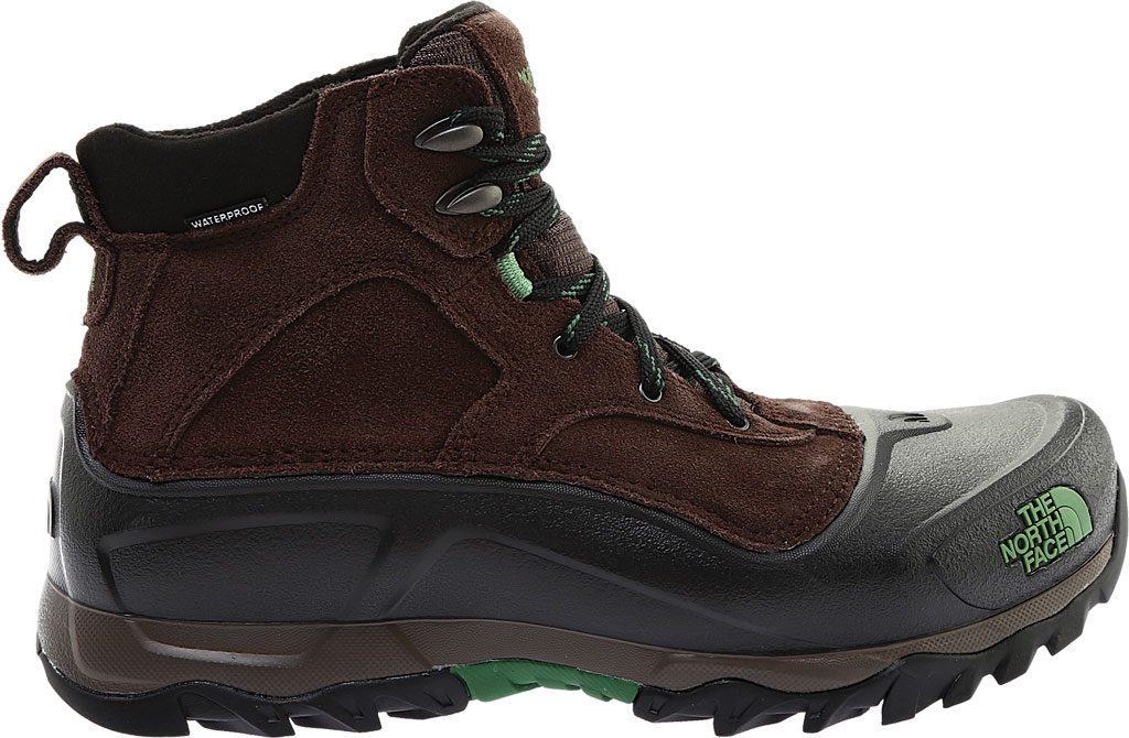 Men's The North Face Snowfuse Waterproof Boot, Ganache Brown/Sullivan Green, large, image 2
