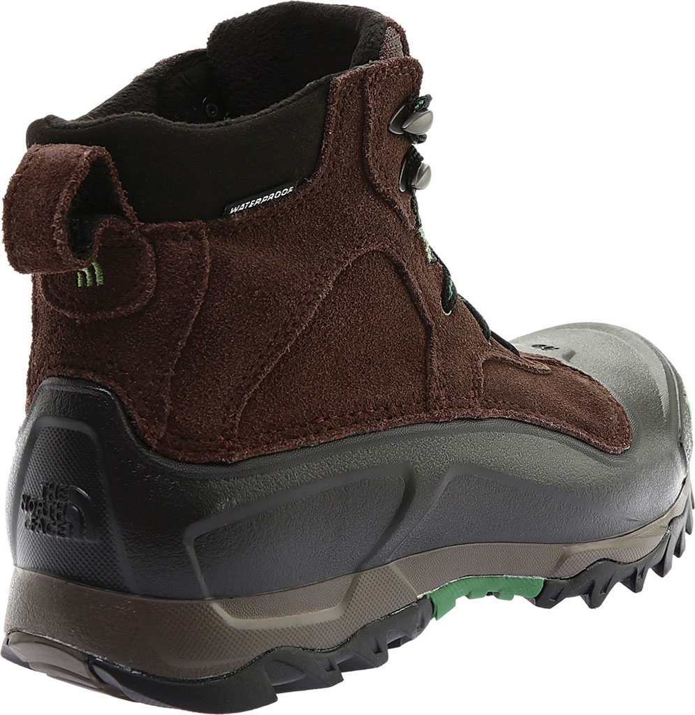 Men's The North Face Snowfuse Waterproof Boot, Ganache Brown/Sullivan Green, large, image 4
