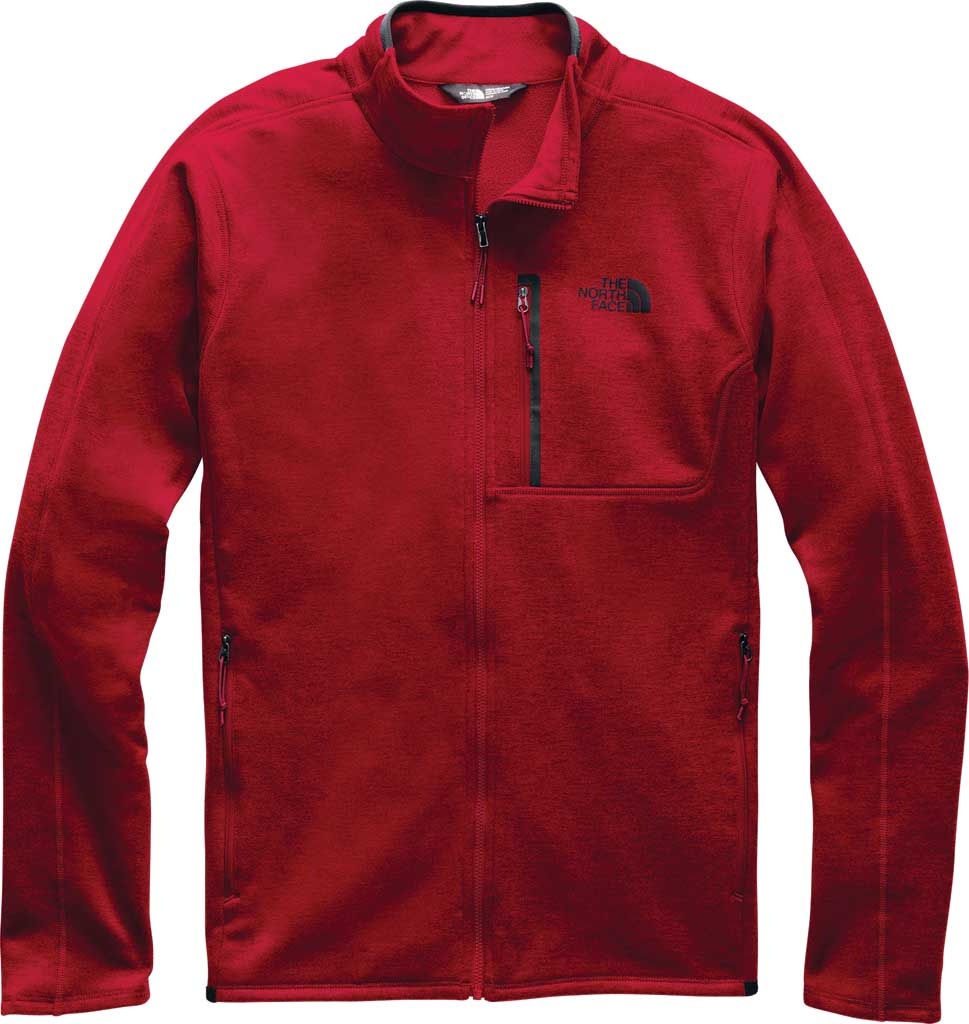 Men's The North Face Canyonlands Full Zip, Cardinal Red Heather, large, image 1
