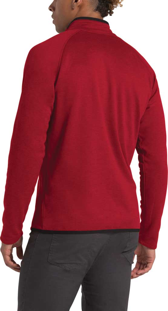 Men's The North Face Canyonlands Full Zip, Cardinal Red Heather, large, image 2