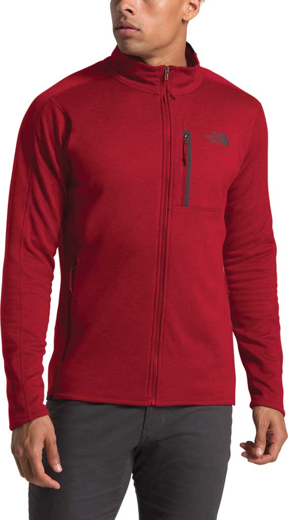 Men's The North Face Canyonlands Full Zip, Cardinal Red Heather, large, image 3