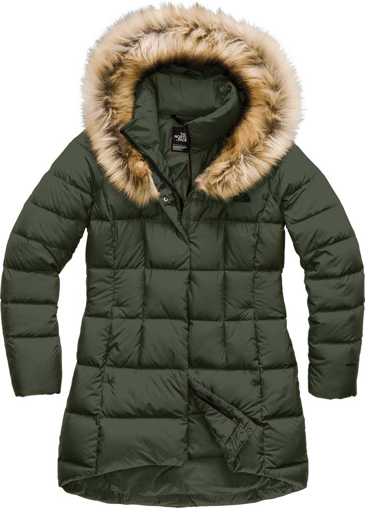 Women's The North Face Dealio Down Parkina, New Taupe Green, large, image 1