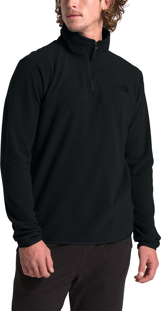 Men's The North Face TKA Glacier 1/4 Zip Pullover, TNF Black/TNF Black, large, image 3