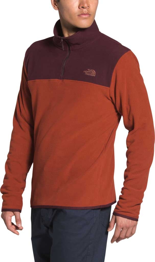 Men's The North Face TKA Glacier 1/4 Zip Pullover, Brandy Brown/Root Brown, large, image 1