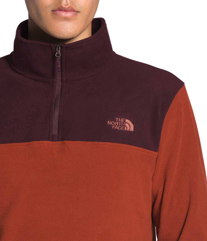 Men's The North Face TKA Glacier 1/4 Zip Pullover, Brandy Brown/Root Brown, large, image 3