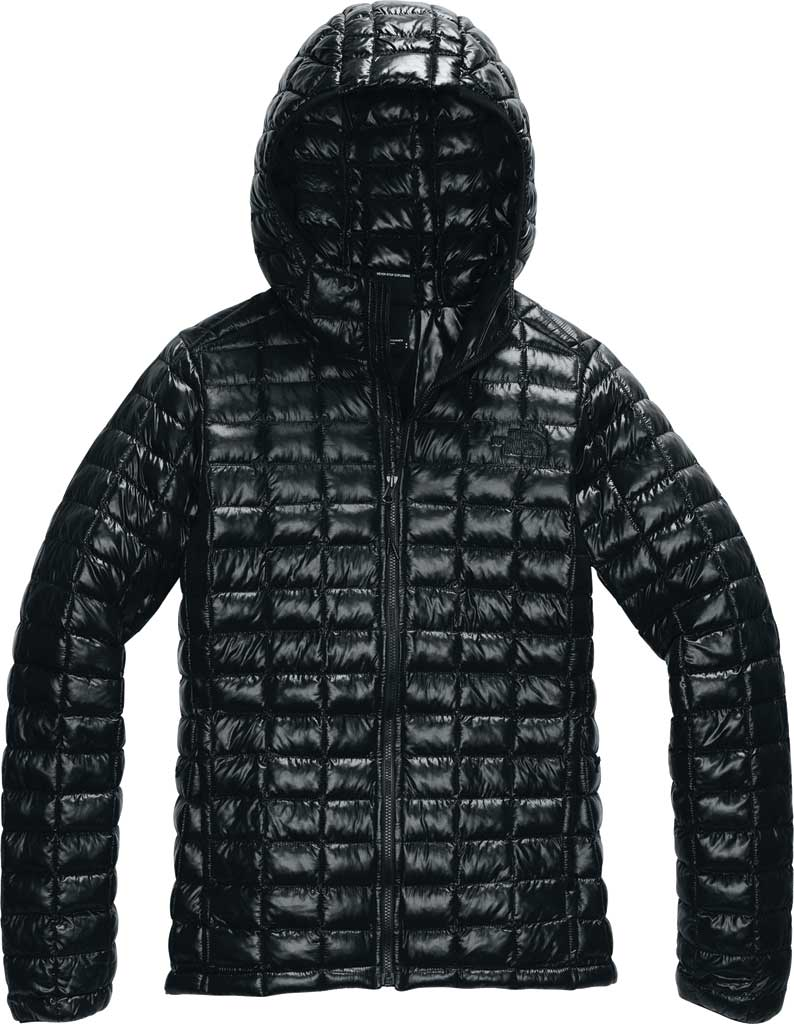 Women's The North Face Thermoball Eco Hoodie, TNF Black, large, image 1