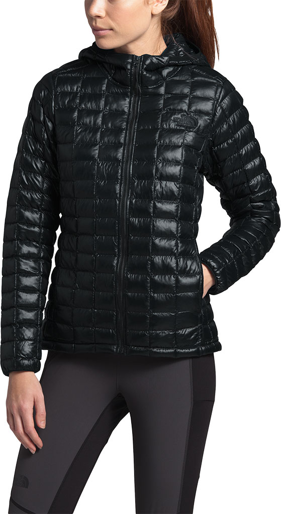 Women's The North Face Thermoball Eco Hoodie, TNF Black, large, image 2