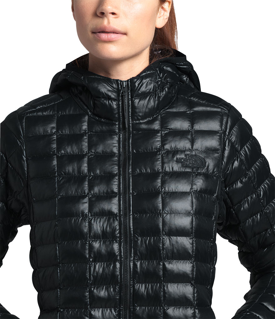 Women's The North Face Thermoball Eco Hoodie, TNF Black, large, image 3