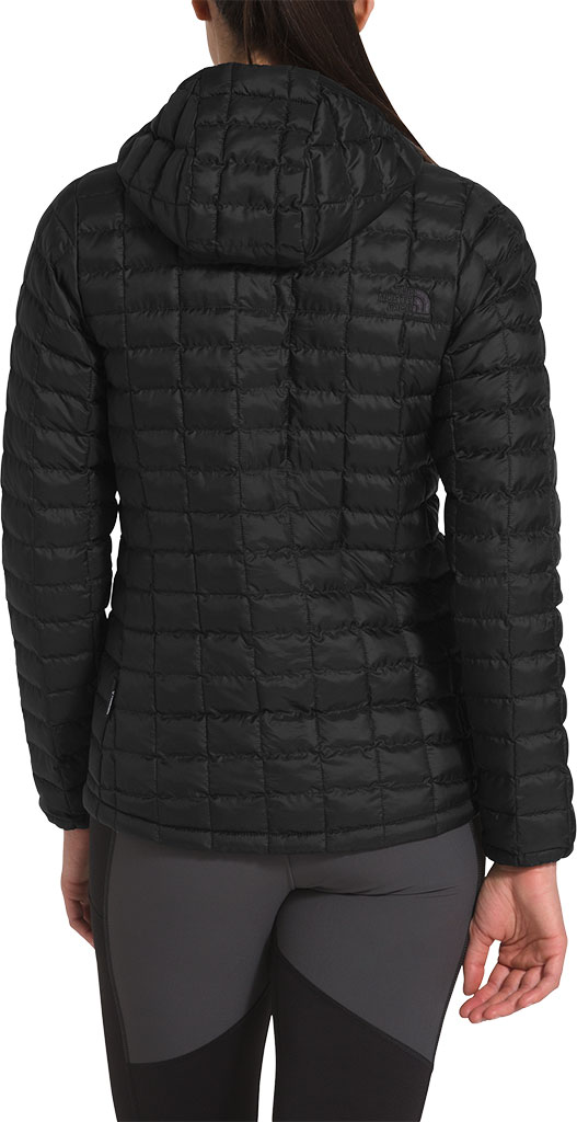 Women's The North Face Thermoball Eco Hoodie, TNF Black Matte, large, image 2