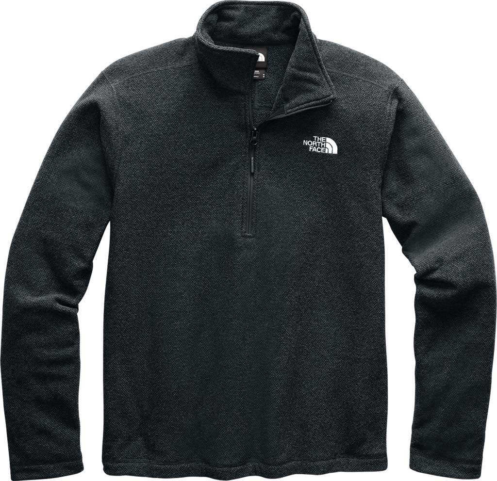 Men's The North Face Textured Cap Rock 1/4 Zip Pullover, TNF Black, large, image 1