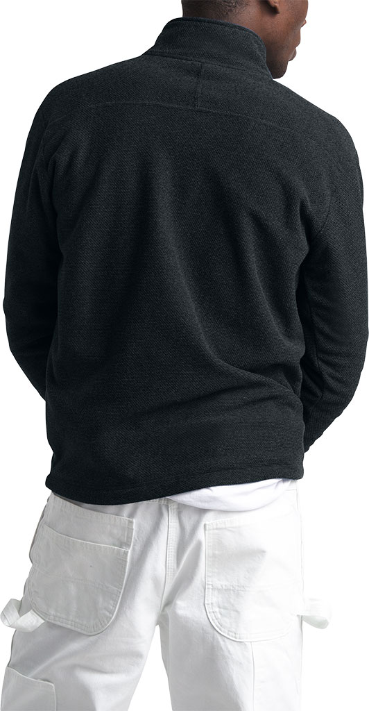 Men's The North Face Textured Cap Rock 1/4 Zip Pullover, TNF Black, large, image 2