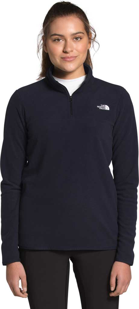 Women's The North Face TKA Glacier 1/4 Zip Pullover, Aviator Navy, large, image 1